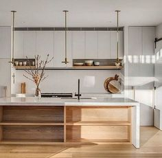 If you are looking for Scandinavian Kitchen Decor Ideas, You come to the right place. Below are the Scandinavian Kitchen Decor Ideas. Classic Kitchen, Farmhouse Style Kitchen, Modern Farmhouse Kitchens, Home Decor Kitchen, Kitchen Interior, Kitchen Ideas, Kitchen Inspiration, Kitchen Lighting Design, Modern Kitchen Design