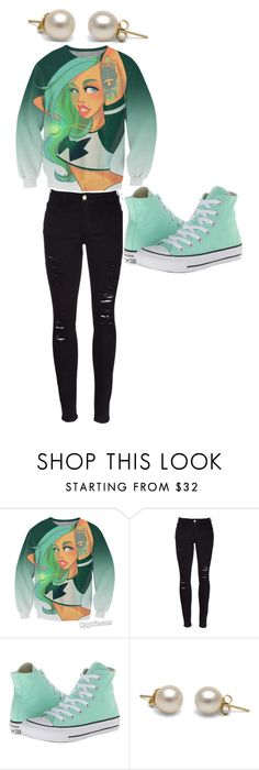 """cute or nah"" by nunucuteornah ❤ liked on Polyvore featuring beauty, Frame Denim and Converse"