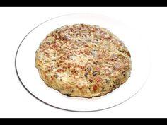 Tortilla de berenjenas - YouTube Eggplant Burger, My Favorite Food, Favorite Recipes, Appetizer Dips, Cake Recipes, Bacon, Low Carb, Cooking Recipes, Diet
