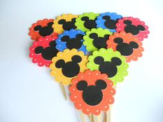Mickey Cupcake Toppers    by sunshowerstuff, $4.75