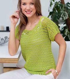 Green pullover | Knitting