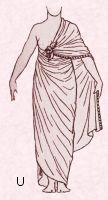 Egyptian draped shawl costume 1600 B.C. Free pattern