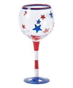 dei stars 18 oz wine glass