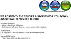 My book and MD Health Channel's MS/Alzheimer's/Medical Marijuana posts…