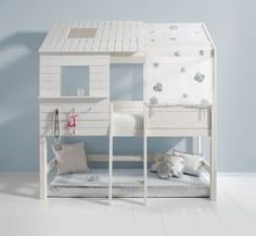 Loving loving loving!♥ Whant this when I have kids Playhouse Loft Bed, Ikea Kura Bed, Kids Bunk Beds, House Beds, Little Girl Rooms, Awesome Bedrooms, Baby Furniture, My New Room, Room Inspiration