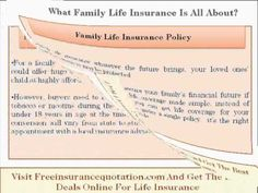 Looking For Best Family Life Insurance Policy? You're Finding Ends Here; Freeinsurancequotation.Com, One of the American Family Life Insurance Company Offer Best Deals on Family Life Insurance Quotes
