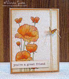 A Blog Named Hero: Stamping with Text - a Friendship Card!