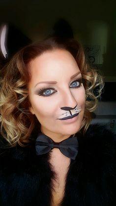 Karneval Kostüm Katze Schminke schminken make up Schnurrhaare cat Helloween