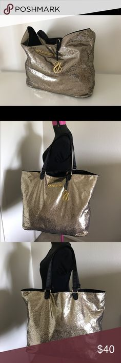 Victoria's Secret sequins tote Like new good condition large size Victoria's Secret Bags Totes