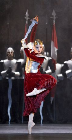 Elisha Willis in Edward II; photo: Bill Cooper. With Choreography by David Bintley