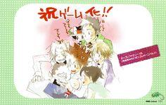 Playing video game Tsuna / Yamamoto / Gokudera / Reborn / Lambo / I Pin / Kyoko / Haru