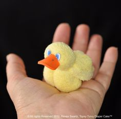 Baby Washcloth Duck, WashAgami ™, Washcloth Rubber Duck PDF and Instructional Video (Sales) Baby Washcloth Duck Washcloth Rubber Duck by TopsyTurvyDiaperCake Baby Crafts, Easter Crafts, Baby Shower Parties, Baby Shower Gifts, Towel Origami, Towel Animals, Baby Washcloth, Towel Crafts, Artisanal