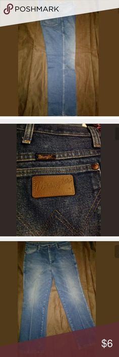 WRANGER OLD MENS JEANS 36X30 FADED VTG? PANTALONES sign ir wear on pockets Back bottom knees, Wrangler Jeans Straight