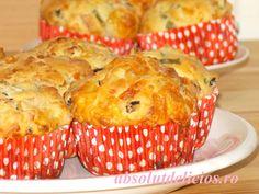 Absolut Delicios: BRIOSE APERITIV CU SUNCA SI CASCAVAL Muffin, Breakfast, Food, Morning Coffee, Essen, Muffins, Meals, Cupcakes, Yemek