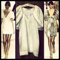 New today! Stella McCartney Runway ivory bamboo dress... #stellamccartney - @resaleriches- #webstagram