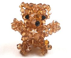 Beaded Teddy Bear Figure by SmileykitCreations on Etsy, $23.00