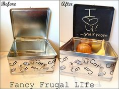 Chalkboard lunch box - how awesome is this idea?
