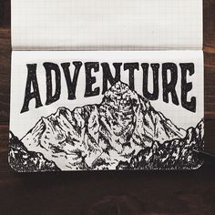 steelbison: Scribbling the night away. #FieldNotes #mountains #art