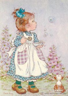 2025k - sarah kay - edic valentine- serie sk 12 - Comprar Postales antiguas de Dibujos y Caricaturas en todocoleccion - 41569639
