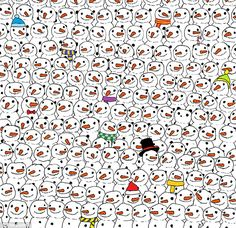 Can you spot the panda? After Hungarian illustrator Gergely Dudás posted this image on his Facebook page, thousands of people vented their frustrations at not being able to find it