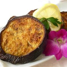 Olive Oil Roasted Eggplant with Lemon