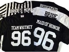 This is so cute. The jersey number being the year you and the bride became friends/met. Or you could do the number of years you've known each other.