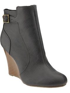 Women's Wedge Ankle Boots | Old Navy