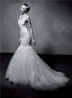 I like this way more than I thought I would!!! Fishtail wedding dress
