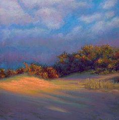 Pastel Painting: Last Dune Light Sunset Cape Cod Painting by Pouche...