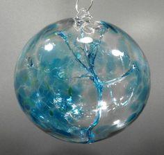 Teal Art, Glass Floats, Art Of Glass, Glass Ball, Crystal Ball, Christmas Bulbs, Christmas Ideas, Hand Blown Glass, Glass Ornaments