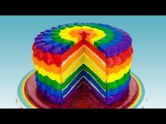 Poder nas mãos: Rainbow Cake: How to Make a Rainbow Cake by Cookie...