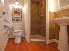 Corner Shower Stall With Their Benefits : Bathroom With Corner Shower. Bathroom with corner shower. Small Basement Bathroom, Cabin Bathrooms, Small Bathroom With Shower, Small Showers, Bathroom Design Small, Bathroom Layout, Bathroom Ideas, Bathroom Pictures, Bathroom Remodeling