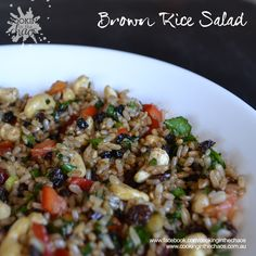 Thermomix Brown Rice Salad Archives - Cooking in the Chaos Healthy Salads, Healthy Eating, Brown Rice Salad, Brown Rice Recipes, Salad Ingredients, Salad Recipes, A Food, Side Dishes, Veggies