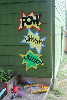 Pop, pow, splat, whoosh signs to decorate...