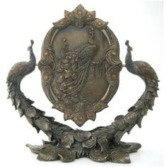 Art Nouveau Art Deco Peacock Rotating Mirror