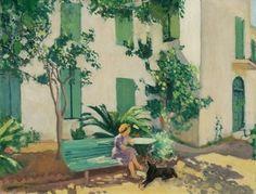 Albert Marquet (French, 1875-1947) > Le Repos Devant La Maison, 1944