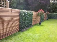 Awesome Fence With Evergreen Plants Landscaping Ideas 101 Setting up the gard… - Zaun Ideen Contemporary Fencing, Contemporary Landscape, Fence Landscaping, Modern Landscaping, Garden Trellis, Garden Fencing, Cerca Natural, Living Fence, Modern Garden Design