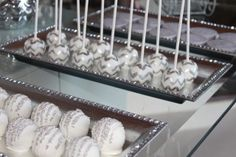 """Photo 8 of 24: Silver & White / Anniversary """"Silver Dessert Table """" 