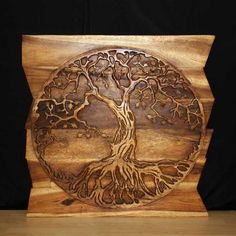 wall decor tree of life wood panel art