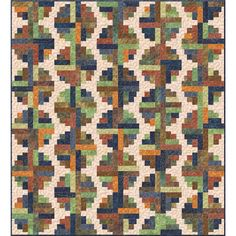 Piece together the perfect quilt for your cozy cabin in the woods with this Log Cabin kit by MSQC in Light my Sapphire Batiks by Wilmington. Kit contains pattern and batik fabrics for the top and bind Log Cabin Kits, Log Cabin Homes, Log Cabins, Firewood Logs, Log Cabin Quilt Pattern, White String Lights, Cabin Lighting, Old Tools, Missouri Star Quilt