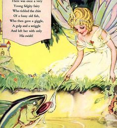 FIDGITY FAIRY Vintage 1920 Full Page with by TransferofTreasures