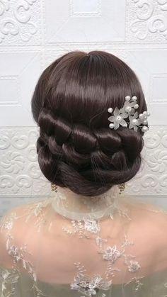 Bun Hairstyles For Long Hair, Headband Hairstyles, Girl Hairstyles, Braided Hairstyles, Wedding Hairstyles, Hairstyle Braid, School Hairstyles, Beautiful Hairstyles, Hair Updo