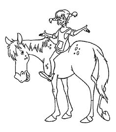 Pipi Colouring Pages (page 2) Basteln Pippi