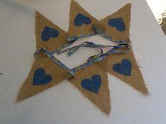 Hessian & Blue Hearts Hessian Bunting, Rachel Lee, Blue Hearts, Wedding, Mariage, Weddings