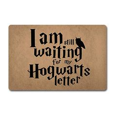ZQH WelcomeDoor Mats I Am Still Waiting for My Hogwarts Letter Doormat Harry Potter Quotes Doormat Hogwarts Door Rugs X in) Non-Woven Fabric Top with a Anti-Slip Rubber Back Hello Doormat Must Be A Weasley, Hogwarts Letter, Charts And Graphs, Harry Potter Quotes, Small Letters, Door Rugs, Doormat, Woven Fabric, Funny Stuff