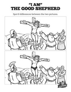 John 10 The Good Shepherd Kids Spot The Difference: Can you spot the difference between these two The Good Shepherd illustrations? Ready to print and ready to color, this kids Bible activity will make the perfect addition to your John 10 Sunday School lesson.