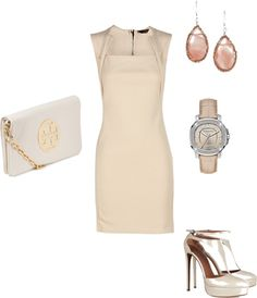 """""""Beige Dress"""" by sjacoby on Polyvore"""