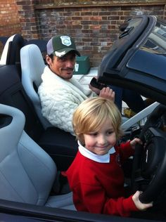 The most handsome man I know. And David Gandy. I love seeing pics of David with kids and animals.