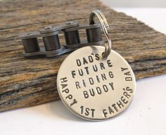 First Father's Day Keychain for Daddy Gift from Son Dad's Future Riding Buddy Keyring for Men Dirt Bike Motocross Keychain Personalized Gear by CandTCustomLures on Etsy
