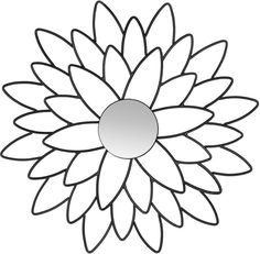 Asstd National Brand Chrysanthemum Flower Wall Mirror
